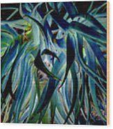 Blue Abstract Art Lorx Wood Print