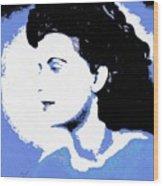 Blue - Abstract Woman Wood Print