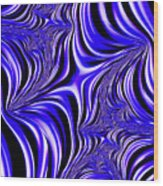 Blue Abyss Wood Print