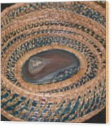 Blue Agate Basket Wood Print