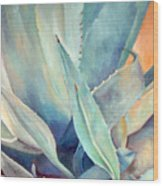Blue Agave Family Wood Print
