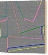 Blue Alert Detail 4 Wood Print