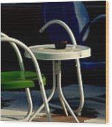 Blue And Green Wood Print by Susanne Van Hulst