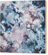 Blue And Purple Wood Print
