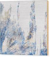 Blue And White Art - Ice Castles - Sharon Cummings Wood Print