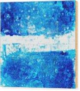 Blue And White Modern Art - Two Pools 2 - Sharon Cummings Wood Print