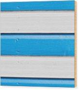 Blue And White Wood Wood Print