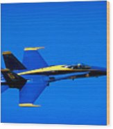 Blue Angel Fly By Wood Print