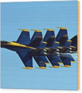 Blue Angels 1-4 Wood Print