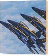 Blue Angels Ascending Wood Print