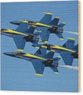 Blue Angels Diamond Formation Wood Print