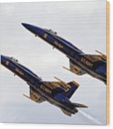 Blue Angels Iv Wood Print