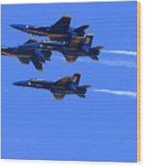 Blue Angels Perform Over San Francisco Bay Wood Print
