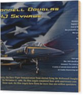 Blue Angels Ta-4j Skyhawk Wood Print
