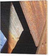 Blue Angle Wood Print