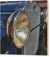 Blue Antique Auto Wood Print