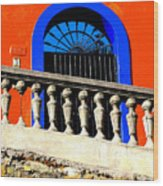 Blue Arch 1 By Michael Fitzpatrick Wood Print