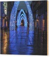 Blue Arch Wood Print