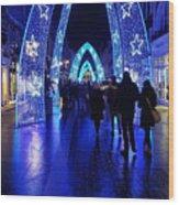 Blue Archways Of London Wood Print