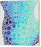 Blue Art - Colorforms 3 - Sharon Cummings  Wood Print
