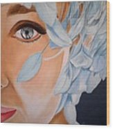 Blue Audrey Wood Print