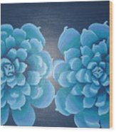 Blue Autum Wood Print
