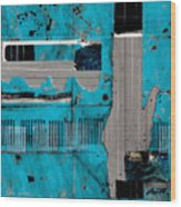 Blue Bag Ditty  Wood Print