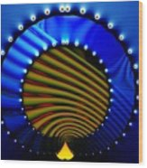 Blue Bale Ringe Wood Print
