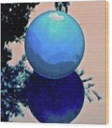 Blue Ball 2 Wood Print