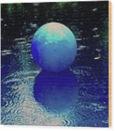 Blue Ball 4 Wood Print