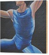 Blue Ballerino Wood Print