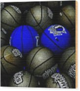 Blue Balls Wood Print