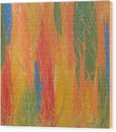 Blue Bang Wood Print