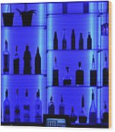 Blue Bar Wood Print