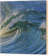 Blue Barrel Wood Print