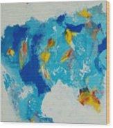 Blue Beast Wood Print