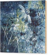 Blue Beauties Wood Print