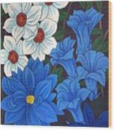 Blue Bell Flowers Wood Print