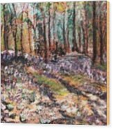 Blue Bell Woods Wood Print