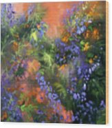 Blue Belle Sunset Wood Print