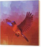Blue Bird 01  Wood Print