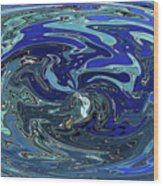 Blue Bird Abstract Wood Print