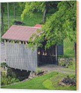 Blue Bird Farm Wood Print
