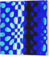 Blue Black Pattern Abstract Wood Print