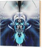 Blue Blazes Wood Print