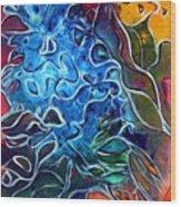 Blue Blossom Wood Print
