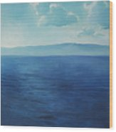 Blue Blue Sky Over The Sea  Wood Print