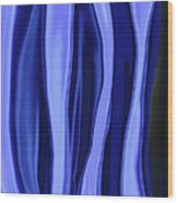 Blue Bottle Abstract Wood Print