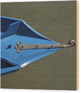Blue Bow In Venice Wood Print