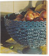 Blue Bowl Wood Print
